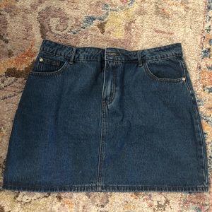 Misguided a-line size 10 denim mini skirt